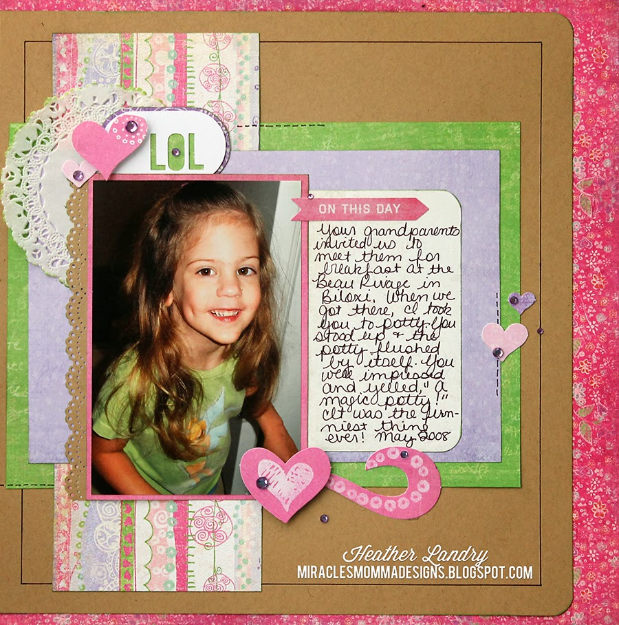 Funny Scrapbook Page_Little Girl_Crate Paper