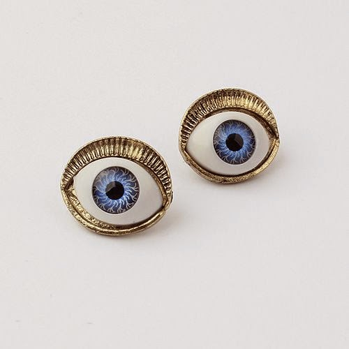 Exquisite lifelike eyes retro earrings for lovely girls