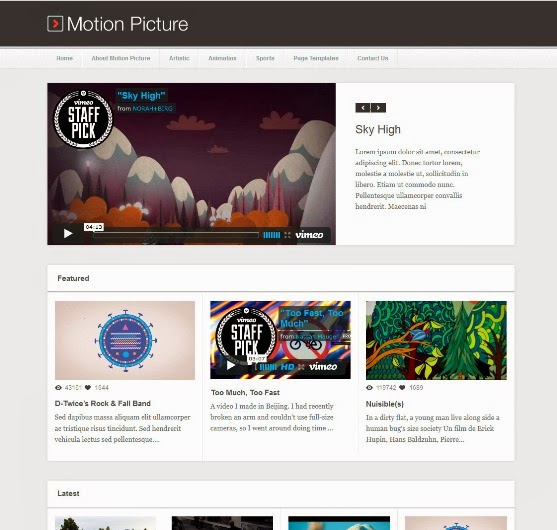 Motion Picture - WordPress Video Blogging Theme