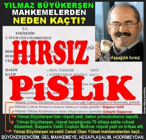 AKP'Lİ KATİLLERLE ESKİŞEHİR'İN TARİHİNİ YAĞMALAYAN HIRSIZ BÜYÜKERŞEN