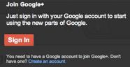 Prijava za Google Plus korisnički račun bez pozivnice