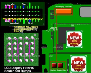 Nokia 5700 Lcd Display Light Solution Jumpers