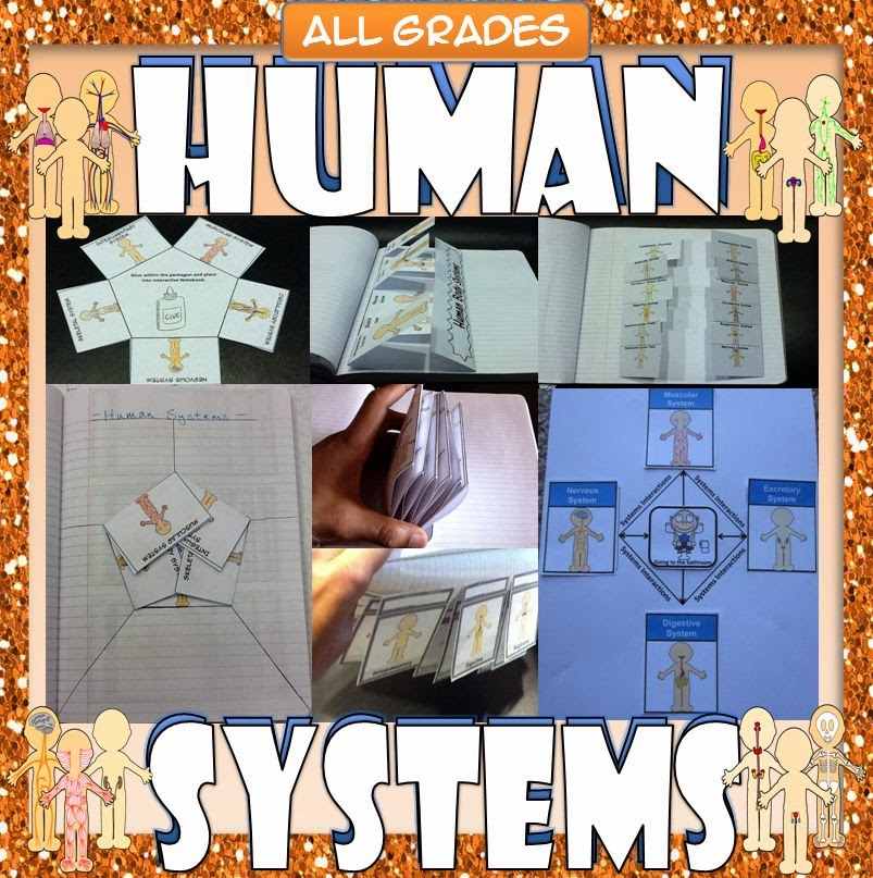 Bond With James Human Body Systems Interactive Graphic Organizers
