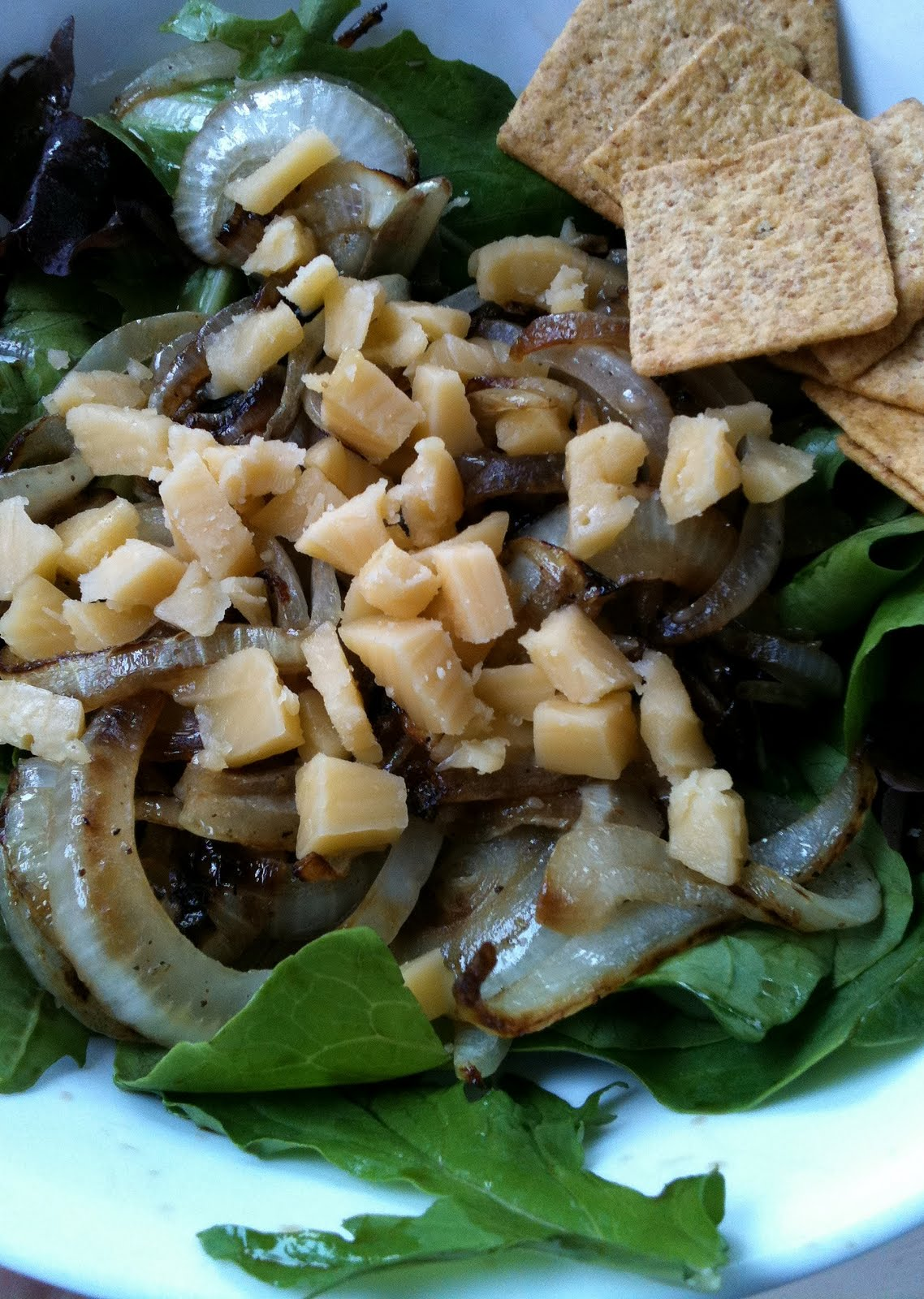 Smoked Gouda & Grilled Onion Salad | Leftover Time