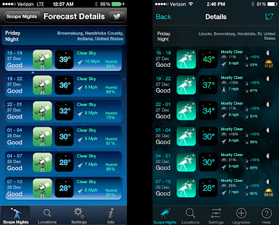 stargazing weather forecast app