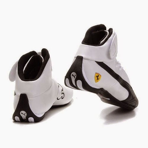 Mens Puma Ferrari Shoes White Black   2013 Puma Ferrari Shoes