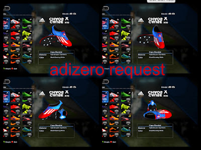 PES 2013 Adizero Request Boots by Jayk