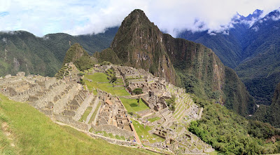 View of Machu Picchu, Looking North Toward Wayna Picchu