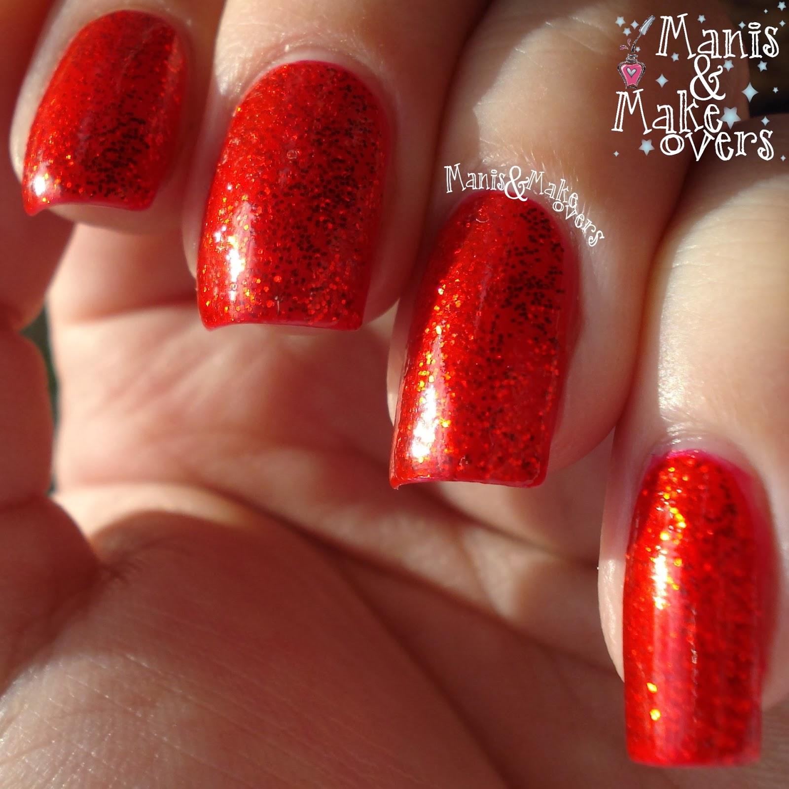 Manis & Makeovers: Xmas polish: W7 Red Dazzle