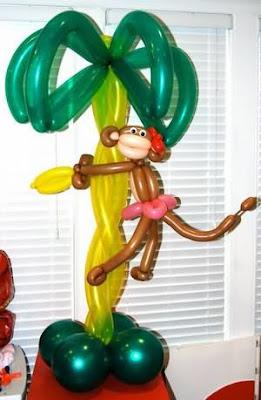 обезьяна из шариков своими руками
