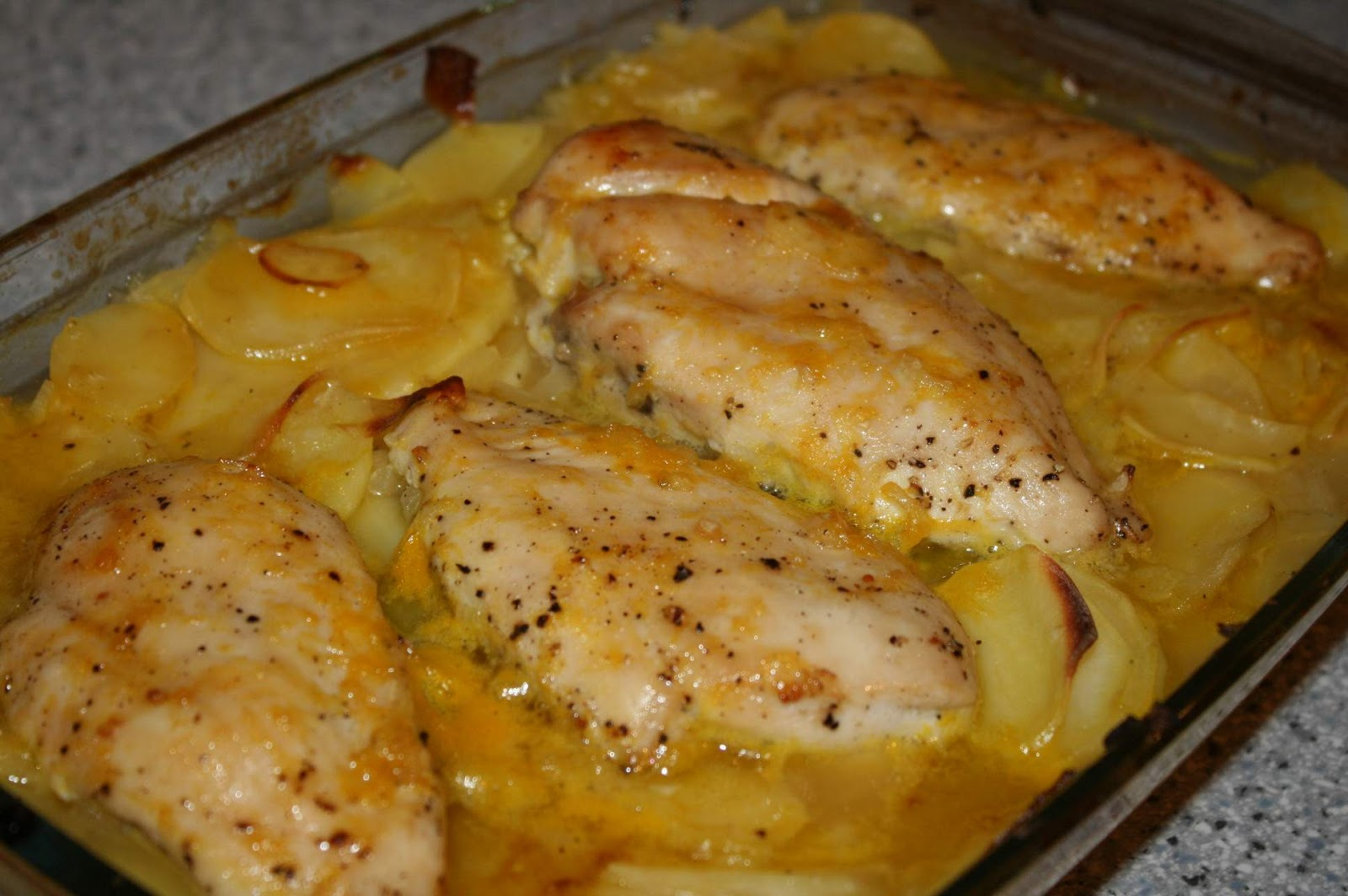 Las recetas de vero y el xurri pechuga de pollo a la for Pechugas de pollo al horno con patatas