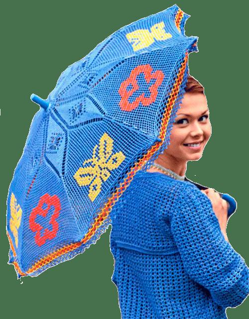 цветной летний зонтик
