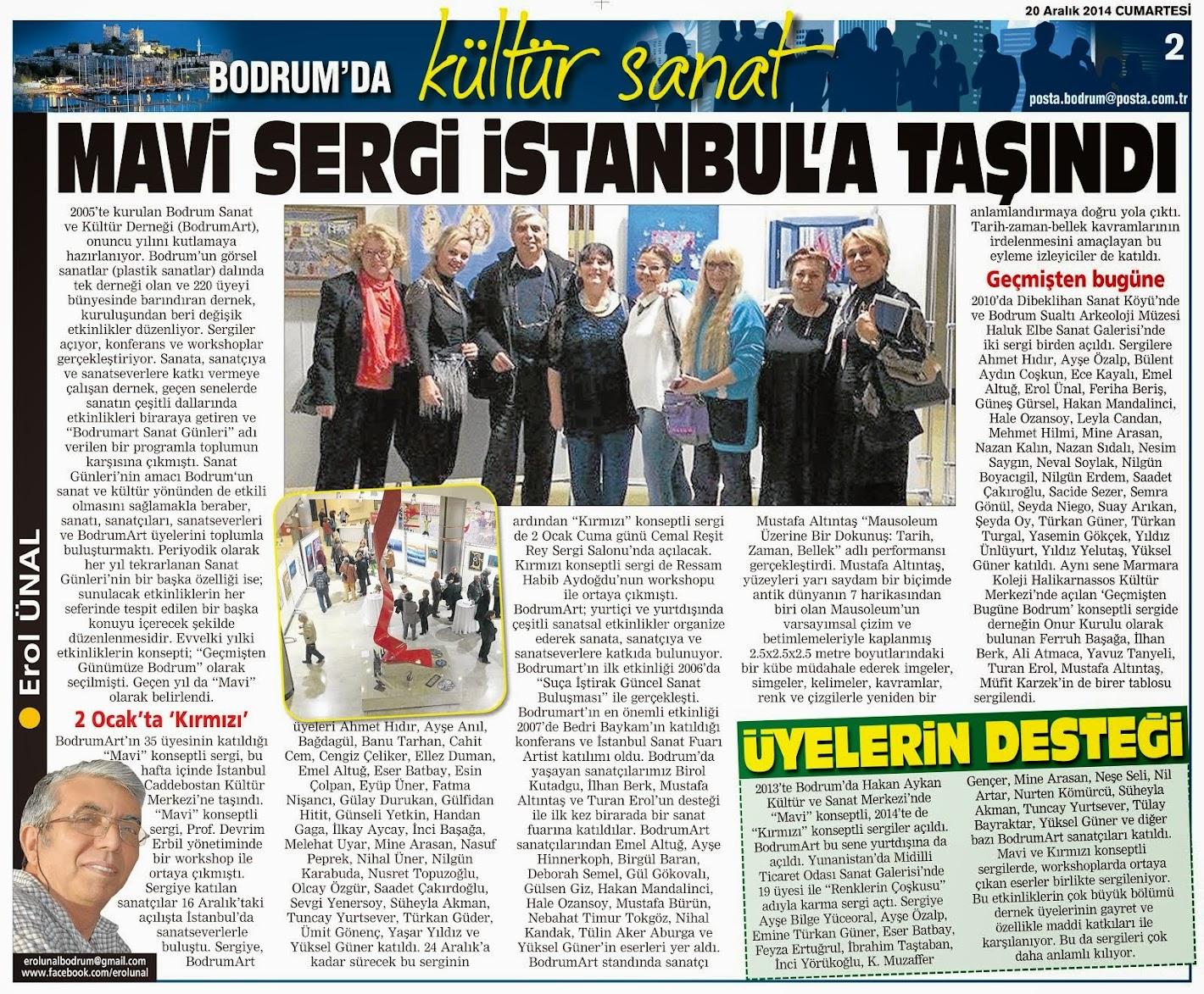 MAVİ SERGİ İSTANBUL'A TAŞINDI
