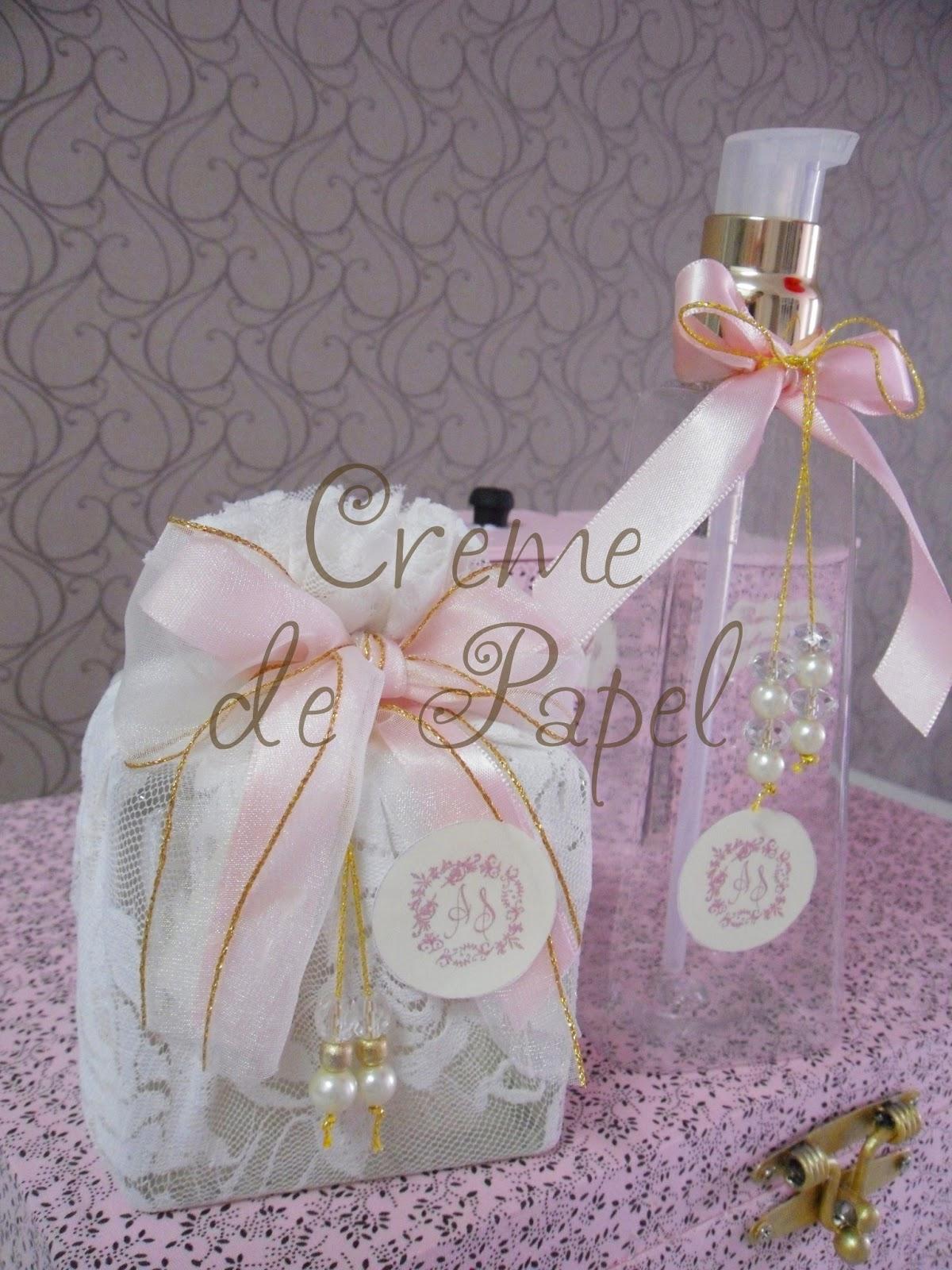 Creme de Papel: Kit Banheiro para Casamento Bege e Rosa Clássico #816946 1200x1600 Banheiro Bege E Rosa