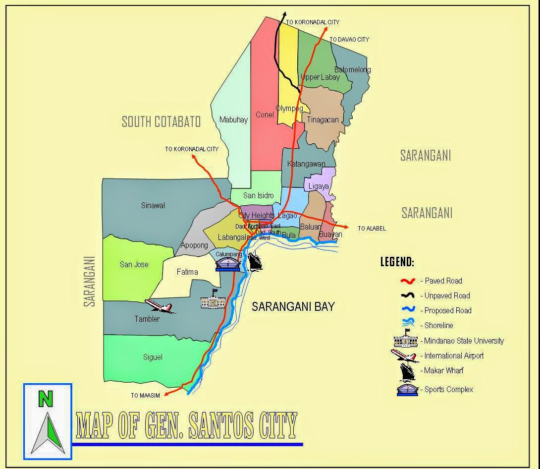 MAP OF GENERAL SANTOS CITY leomap