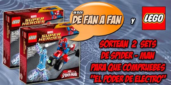 """Cartel promocional de nuestro concurso """"Lego Spider-Man"""""""
