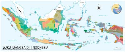 Peta Suku Bangsa Indonesia