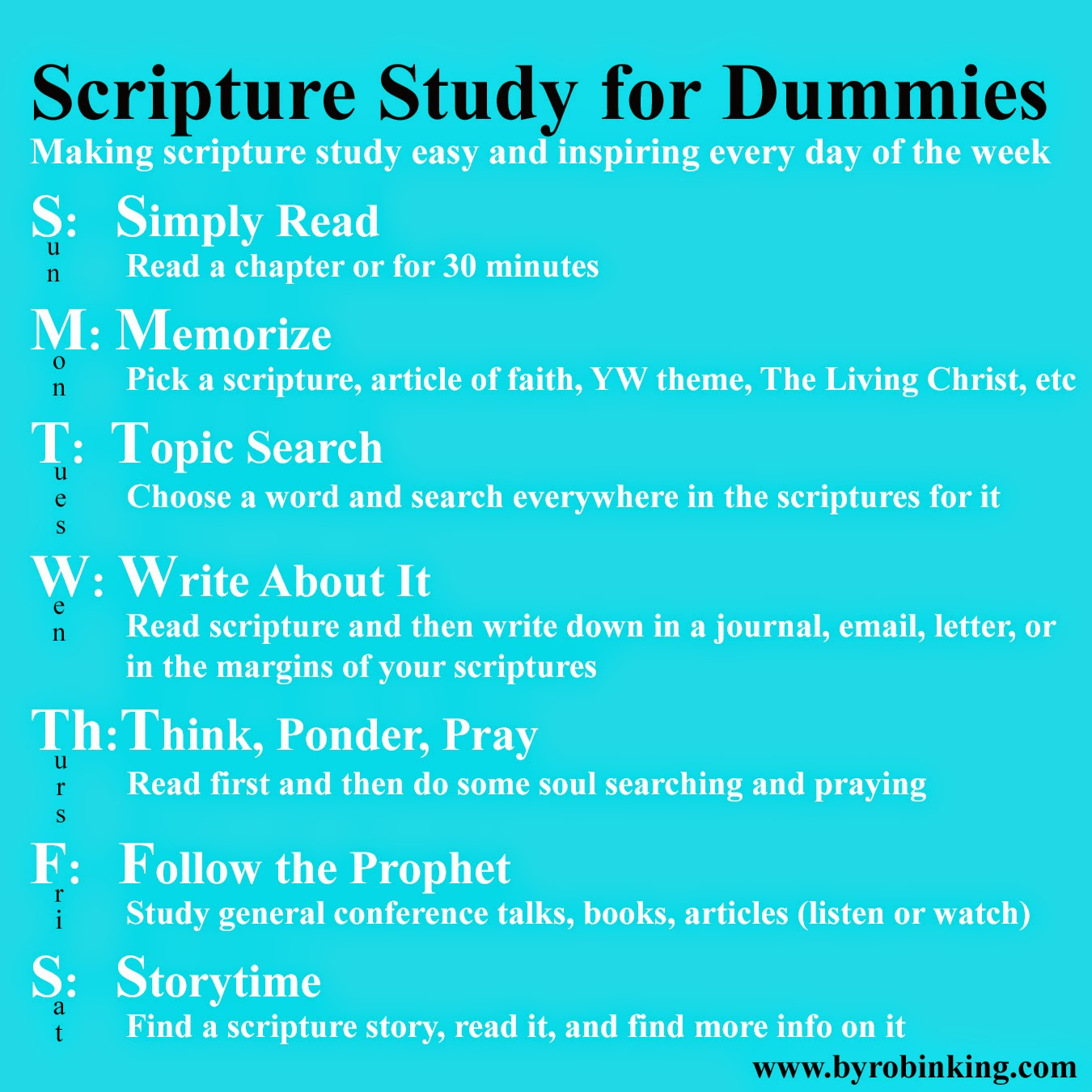 making scripture study easy and inspiring every day of the week
