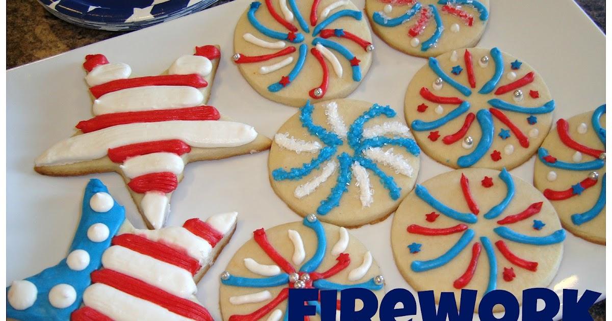 Firework Sugar Cookies {Pipeable Sugar Cookie Frosting} ~ Dip it in ...