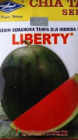 Semangka, Non Biji, Liberty, Cap Kapal Terbang, Bisi International, Hibrida, Daging Merah, Harga Murah