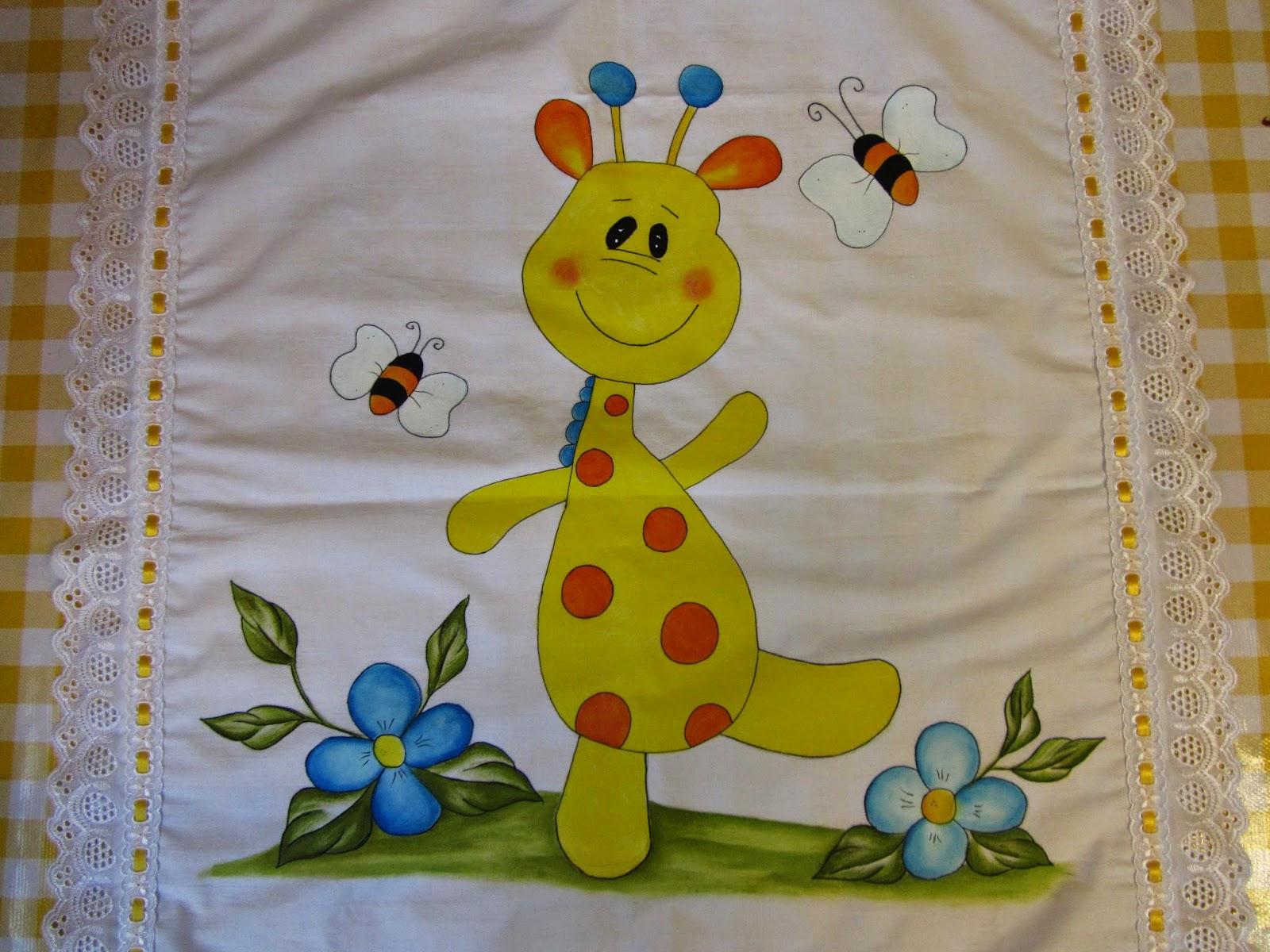 Alegr a en las flores con pinceladas de colores jirafa - Dibujos para sabanitas de bebe ...