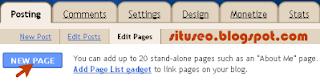 Cara membuat halaman statis atau statis page