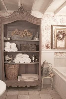 shabby in love: bathroom organization ideas