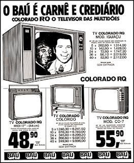 carnê Baú, 1972; os anos 70; propaganda na década de 70; Brazil in the 70s, história anos 70; Oswaldo Hernandez;