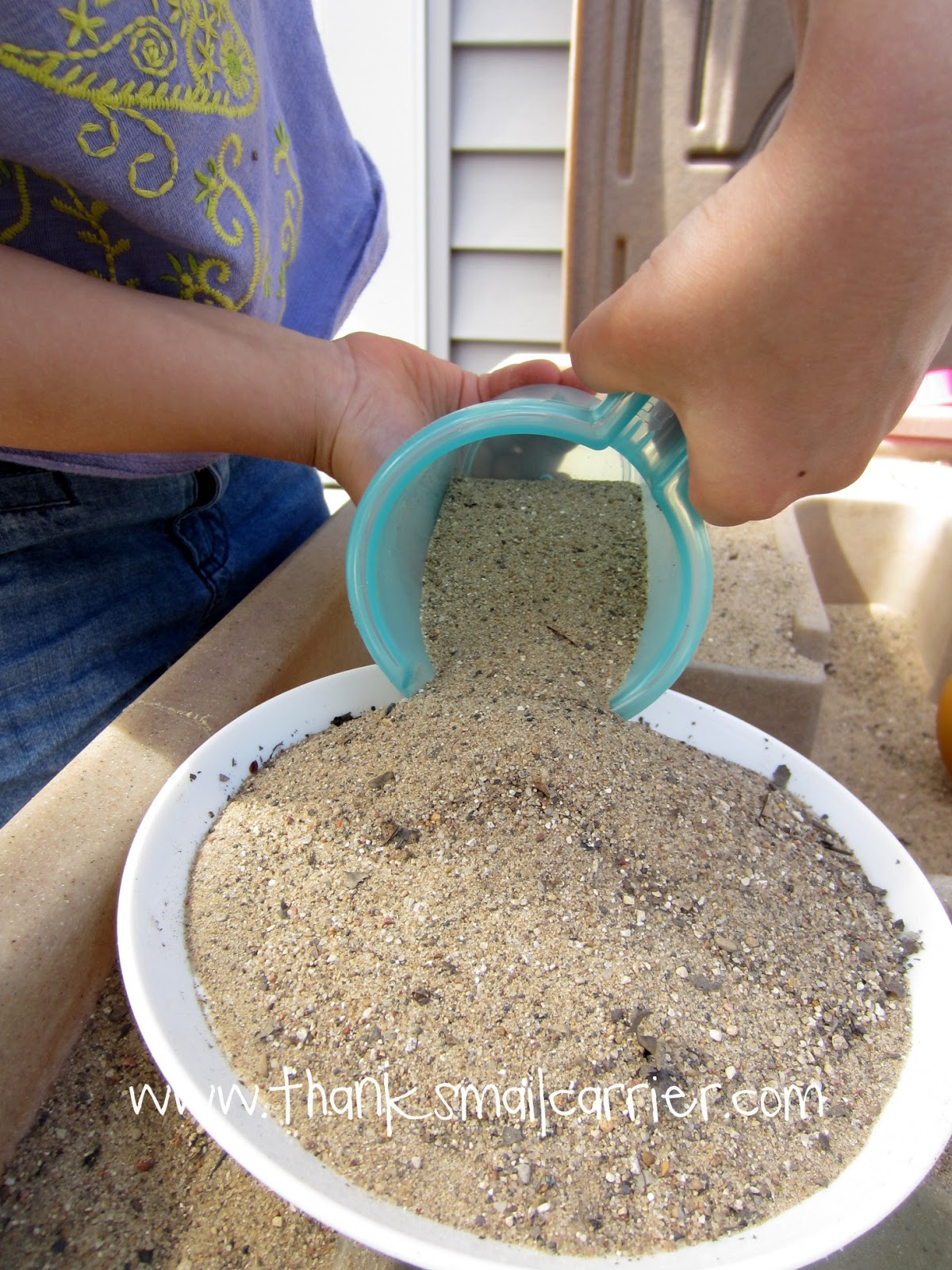 sand toy measuring