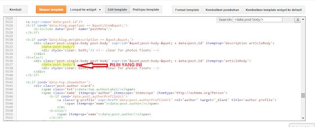 Posisi <data:post.body/> di dalam HTML TemplatePosisi <data:post.body/> di dalam HTML TemplatePosisi <data:post.body/> di dalam HTML Template