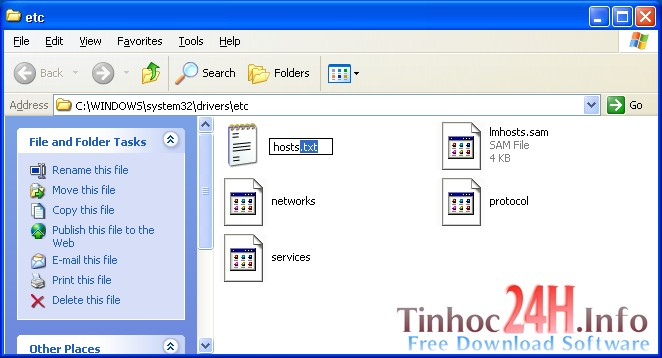cách lưu file host trên windows xp 4