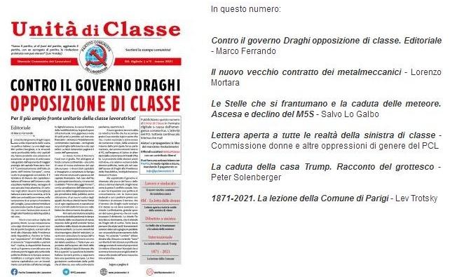 NUOVO NUMERO DI UNITA' DI CLASSE - MARZO 2021