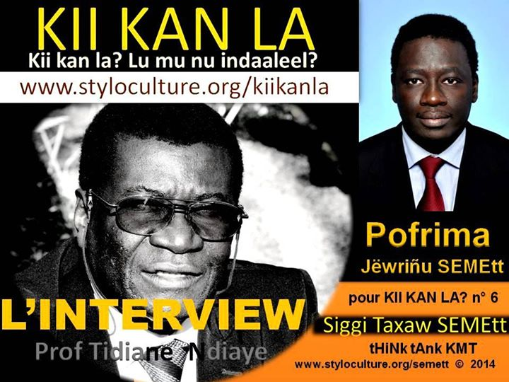 INTERVIEW Prof Dr Dr Tidiane Ndiaye