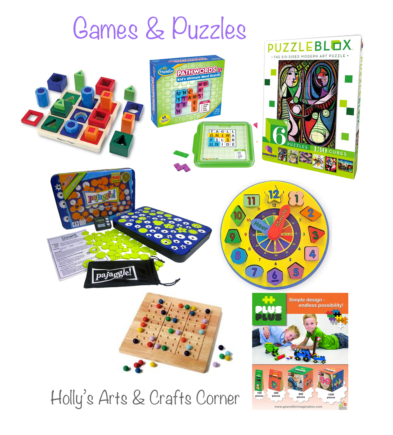 Puzzles Games: Holly's Arts And Crafts Corner: Holiday Gifts To Foster