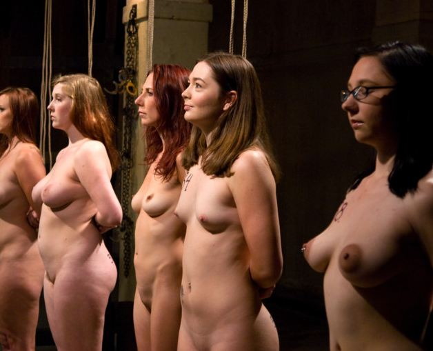 Nude women on a leash — img 12