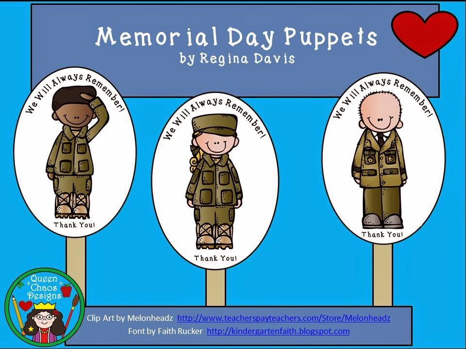 http://www.teacherspayteachers.com/Product/A-FREEBIE-Memorial-Day-Puppets-1255602