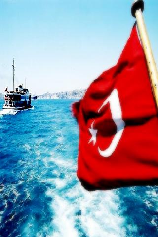 Turkish Flag Istanbul Bosphorus Landscape IPhone Wallpaper