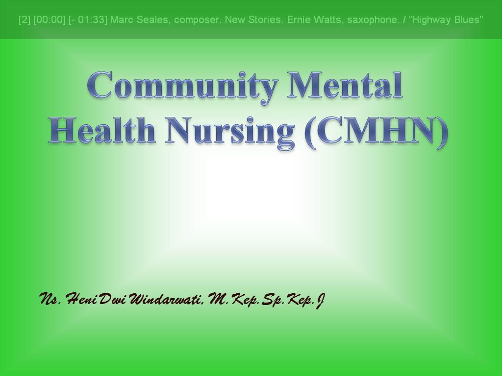 community mental health nursing pdf