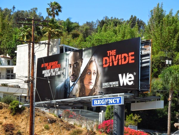 The Divide series launch billboard