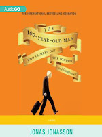 Cover of The 100-Year-Old-Man Who Climbed Out the Window and Disappeared by Jonas Jonasson