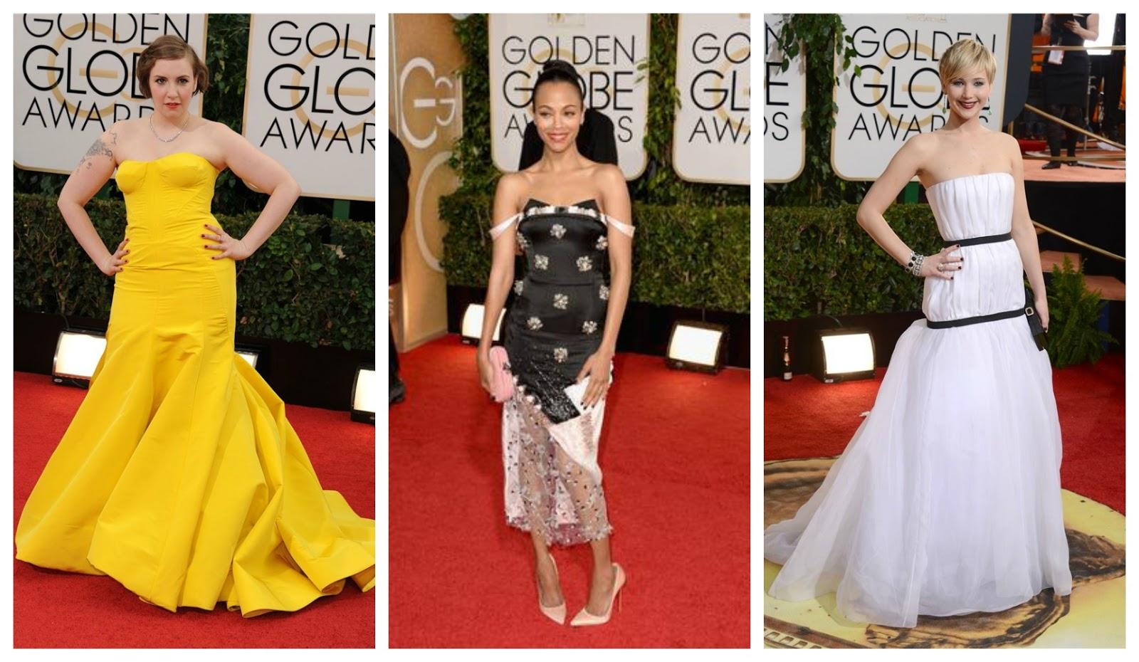 Lena, Zoe, y Jennifer Globos de oro 2014