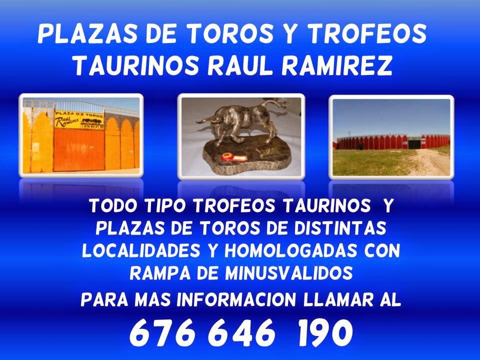 TROFEOS TAURINOS Y PLAZAS DE  TOROS RAUL RAMIREZ