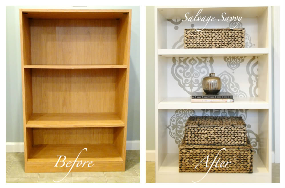 The collected interior cheap to chic laminate bookcase makeover Cheap wood paint