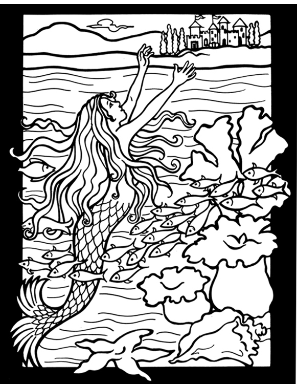 h c andersen coloring pages - photo #15