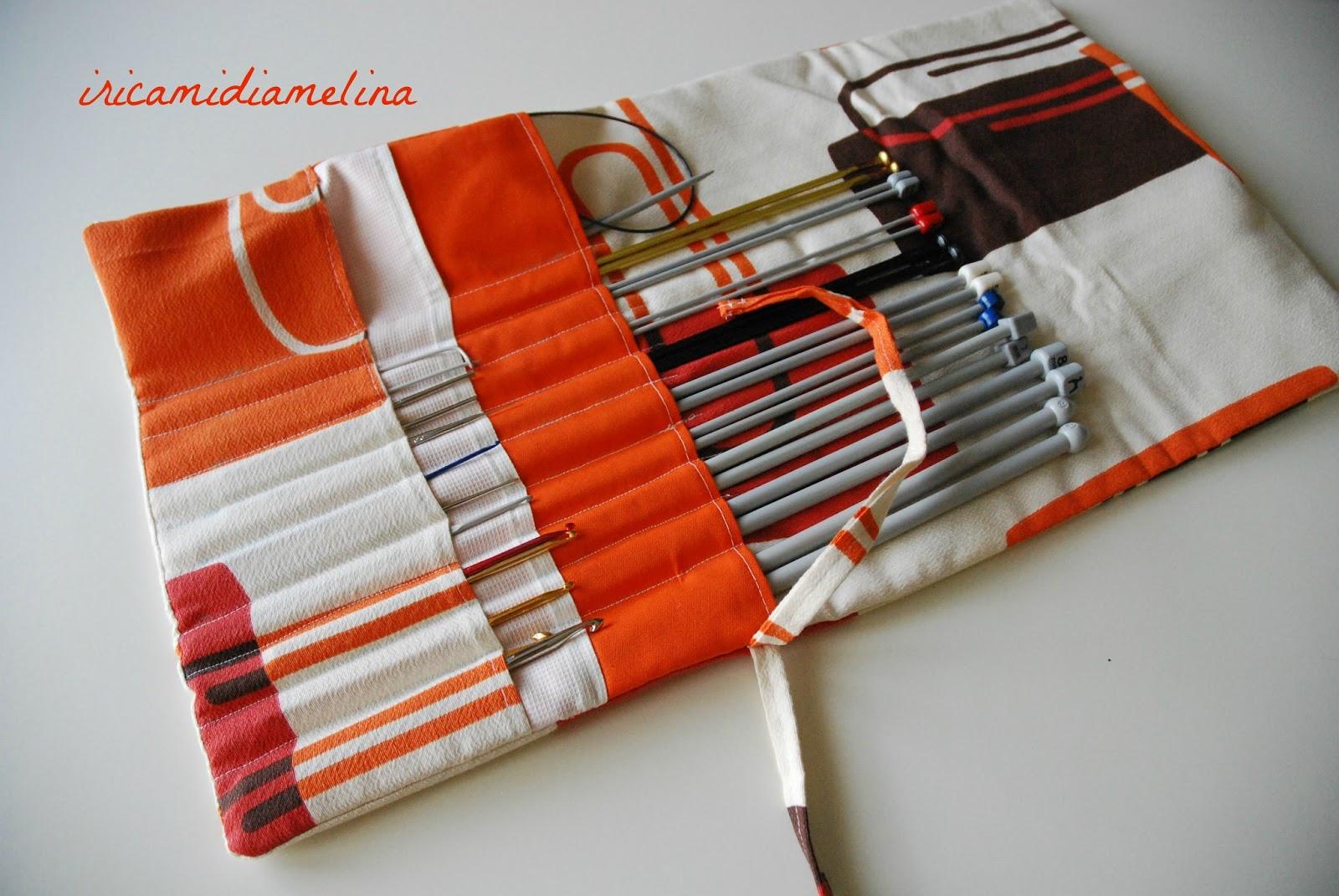 Iricamidiamelina porta ferri da maglia e uncinetto for Porta borse fai da te