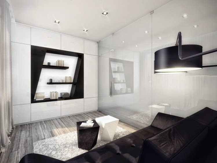 Top ideas for modern minimalist living room design ideas 2015 for Black and white minimalist bedroom
