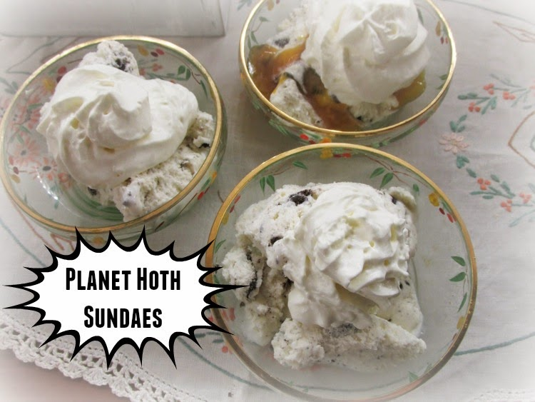 Planet Hoth sundaes - star wars dessert