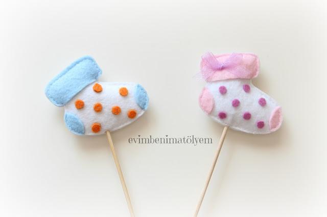keçe bebek şekeri,keçe bebek çorabı,çubuklu bebek şekeri
