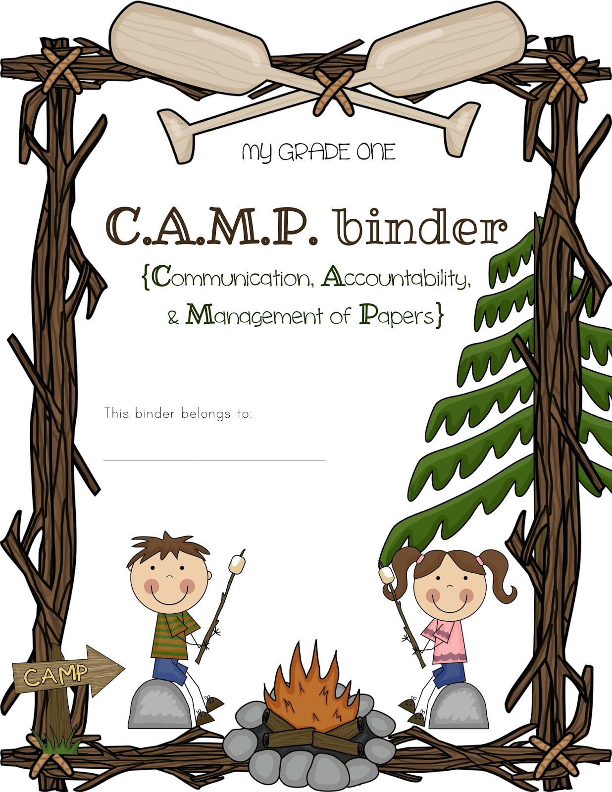 Camping Border - Bing images