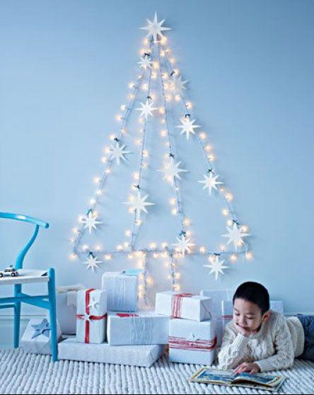 árbol de Navidad original con luces